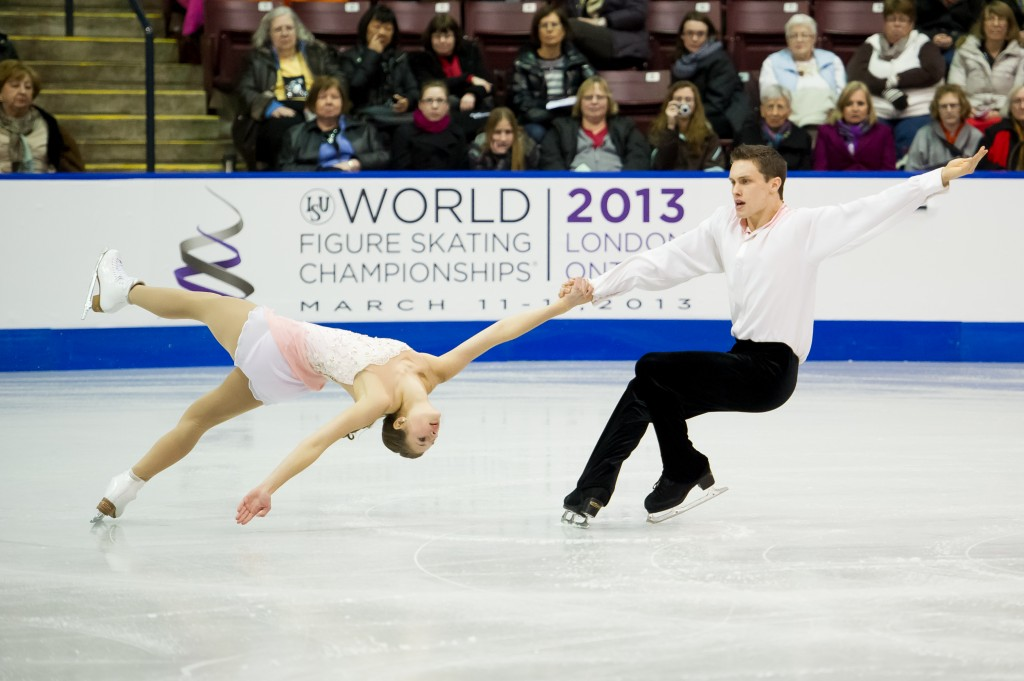 Margaret Purdy and Michael Marinaro skate their short program at the 2013 Canadian Tire National Figure Skating Championships (Photo by Danielle Earl)