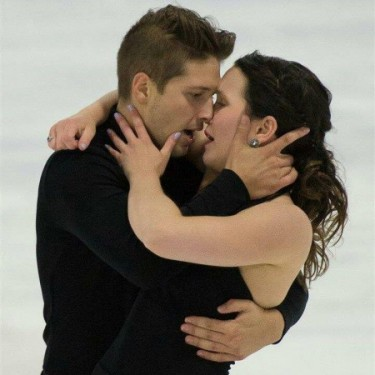 Poulin and Servant during the free dance at the 2014 Quebec Summer Championships. Photo by Marc Carle.