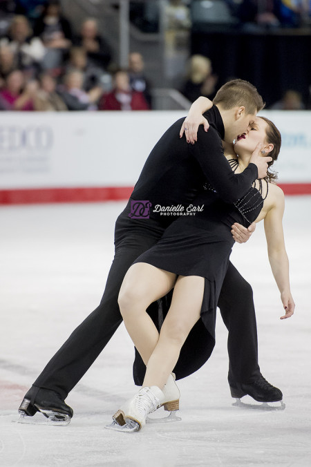 Poulin and Servant during the free dance at the 2015 Canadian Tire National Skating Championships. Photo by Danielle Earl.