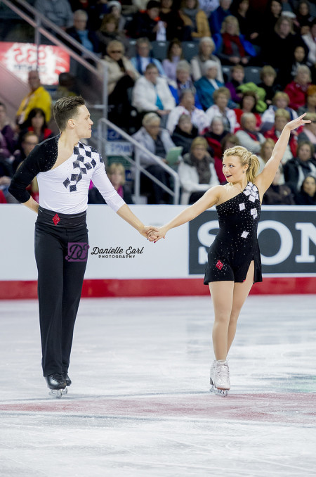 Moore-Towers and Marinaro during the long program at the 2015 Canadian Tire Figure Skating Championships. Photo by Danielle Earl.