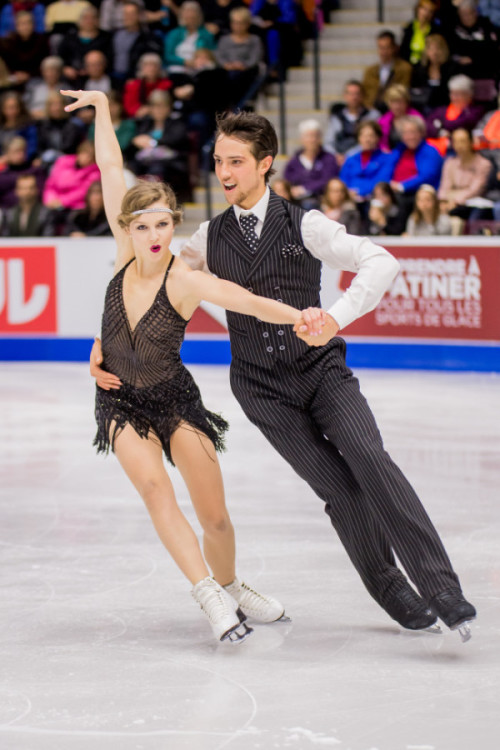 Paul and Islam skate in the short dance at 2016 Skate Canada International. Photo by Danielle Earl.