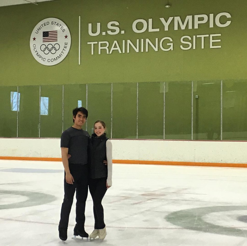 Deardorff and Settlage at their Colorado Springs training base. (Photo from Max Settlage on Instagram.)